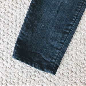 7 For All Mankind Jeans - 7FAM The Skinny Destroyed Dark Wash Jeans